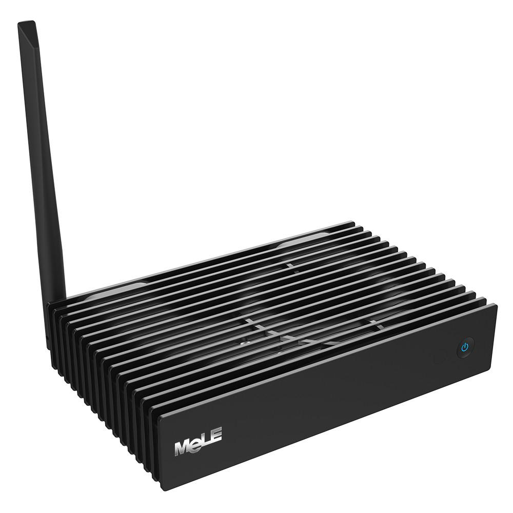 MeLE PCG35 GLK, Intel j4105, 4GB, 32GB eMMC, SD reader, M.2 slot, 2,5 inch HDD slot, Win 10, VGA en HDMI (4k@60Hz), 3x USB3.0, 1x USB 2.0, BT, WiFI, LAN