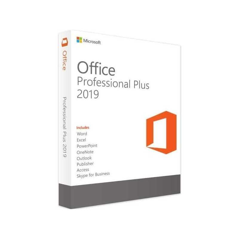 Microsoft Office Professional Plus 2019 , ESD, no case, no media, 1 User (Word, Excel, Powerpoint, OneNote, Outlook, Publisher, Acces, Skype for Business) 3 jaar activatie support, activeren binnen 1 maand