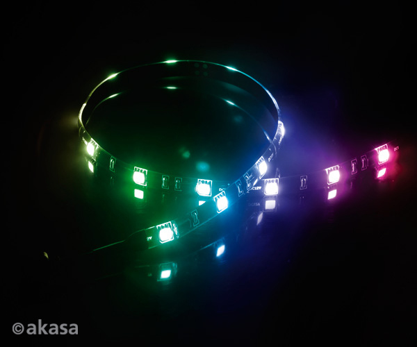 Akasa VegasMB secure 10 pc Magnetic LED strip light, 50cm, RGB