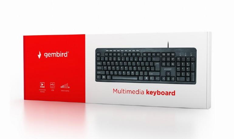 Gembird Multimedia toetsenbord USB - silent typing