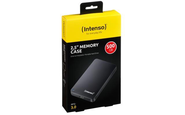 Intenso USB3, 1TB, externe harddisk 2.5 inch, zwart