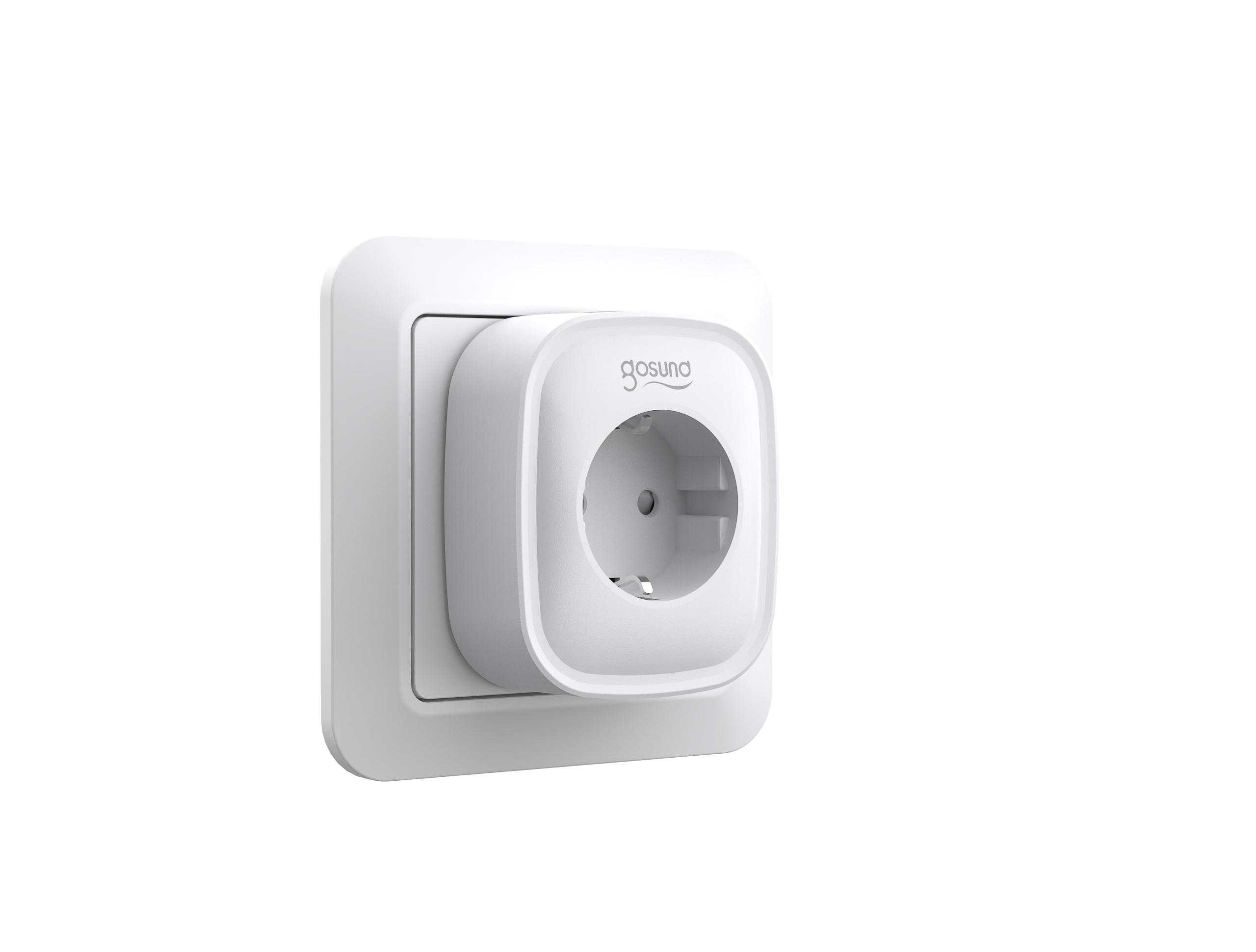 Gosund SP1 smart stopcontact enkel, met schakelaar, Alexa and Google Home compatible