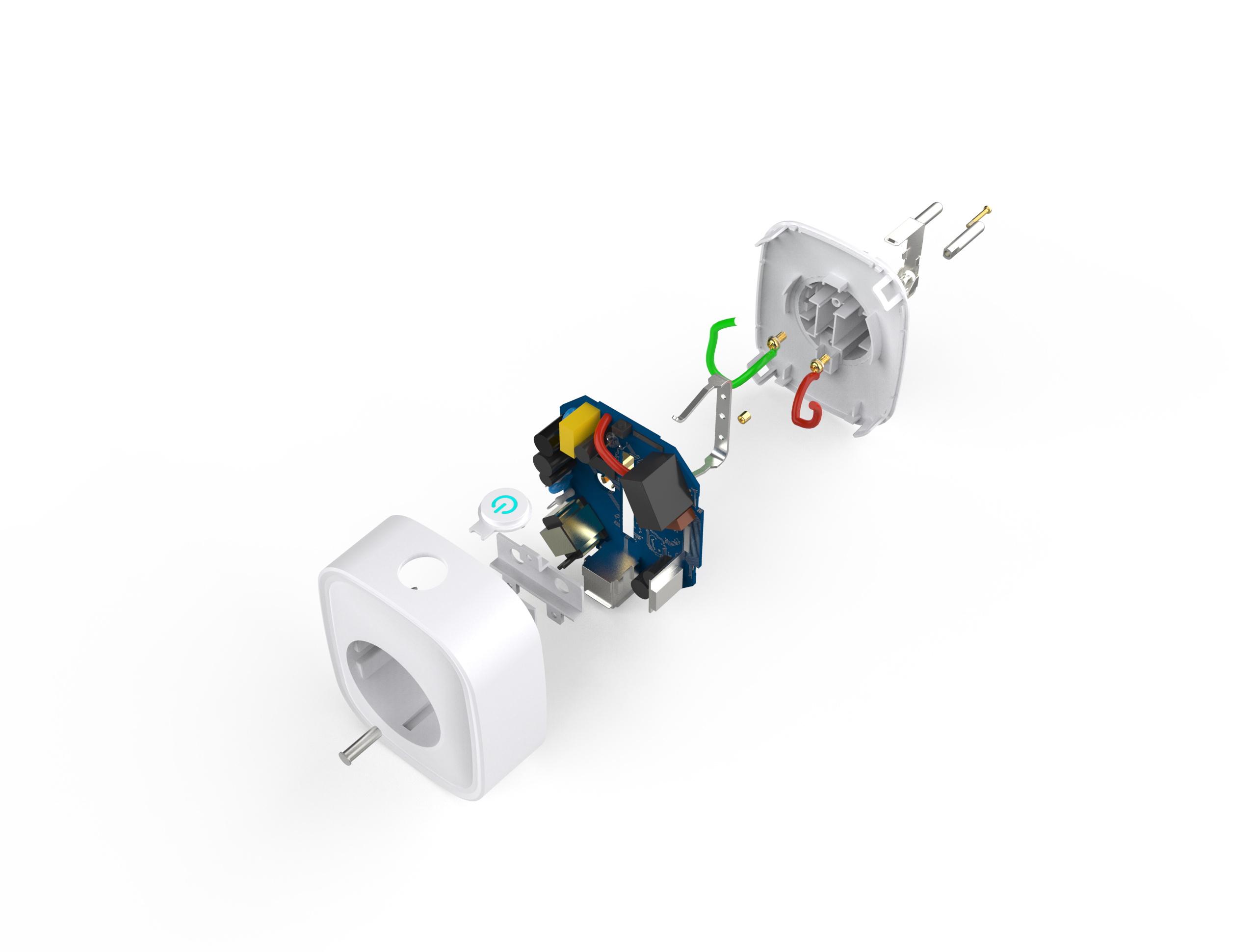 Gosund SP112 smart stopcontact enkel + 2 x USB, met schakelaar, Alexa and Google Home compatible