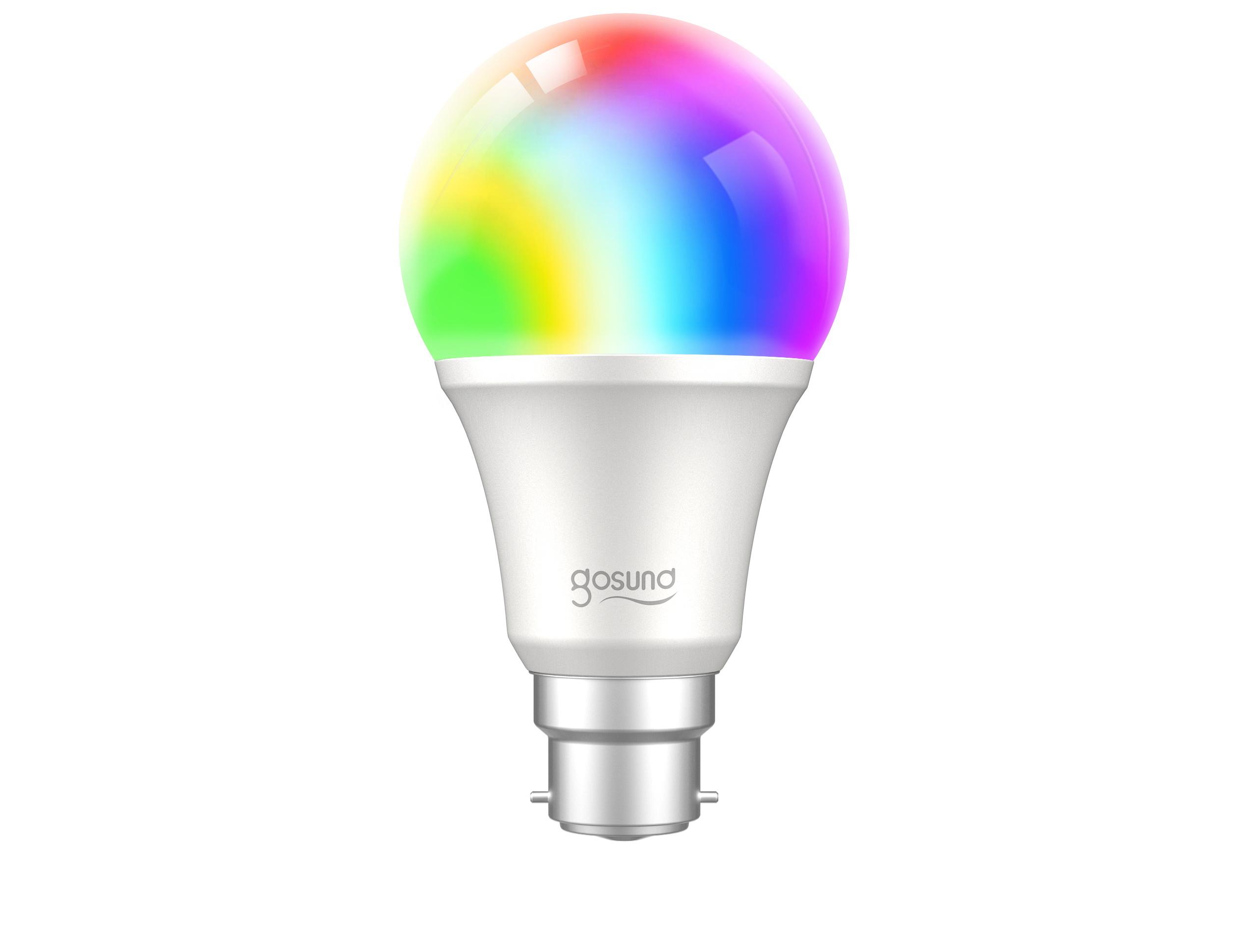 Gosund WB4 smart lamp 230V, 8W (75W eq.), 800lm, E27, RGB W dimbaar, Allexa, Google Home and IFTTT compatible