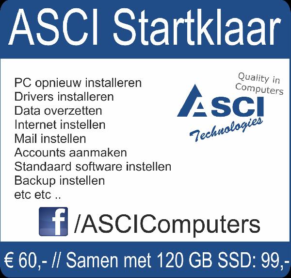 Weekactie: 120GB SSD+Startklaar installatie