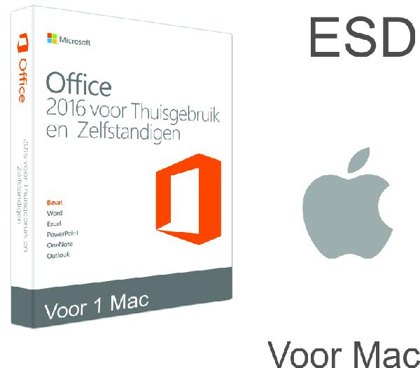 Microsoft Office Home & Business 2016 Mac:, 1 User OEM (Word, Excel, Powerpoint, Outlook) - ESD