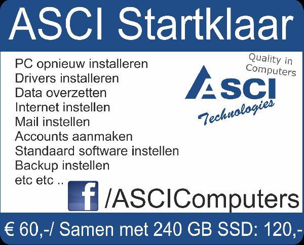 Weekactie: 240GB SSD+Startklaar installatie