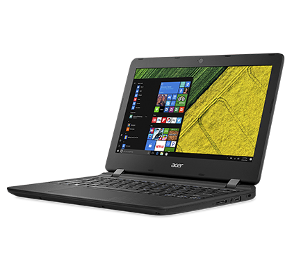 Acer Aspire ES11 ES1-132-C0UJ, Midnight Black, 11.6inch HD ComfyView, Celeron N3350, 4GB DDR3L, 32GB eMMC, Intel HD Graphics 500, HDMI, No ODD, Intel 3165 (1x1) ac + BT 4.2, 3-cell battery, 0.3MP webcam, Win 10 Home, US keyb.