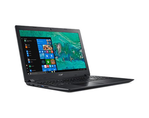 Aspire 3 A315-32-C673, Obsidian Black, 15.6 inch FHD ComfyView, Celeron N4000 , 4GB DDR4, 128GB SSD, UHD Graphics 600, HDMI, No ODD, Wi-Fi 5 AC + BT 4.0, 2-cell battery, 0.3MP webcam Win 10 Home