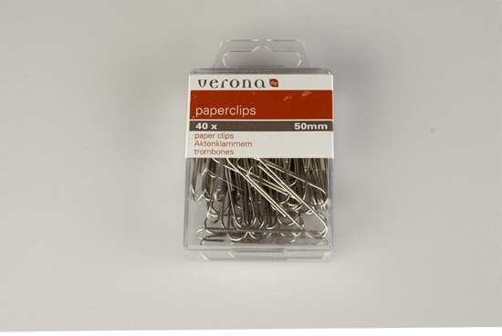 Verona 40x paperclip 50mm