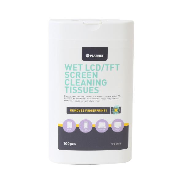Platinet PFS5830 wet tissues voor LCD/TFT schermen 100 stuks